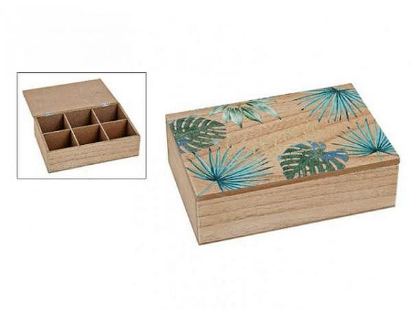 Geschenkschachtel Tropical Kiste aus Holz 23x7x15cm