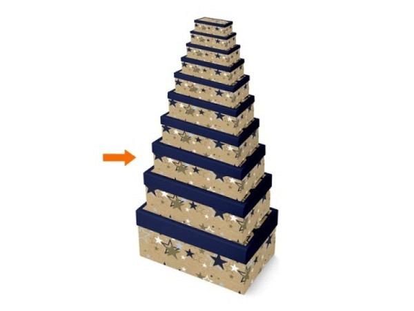 Geschenkschachtel Papagei 14x21,5x8cm