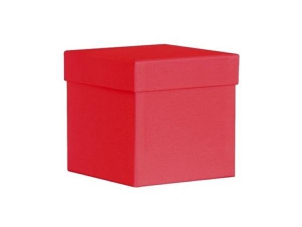 Geschenkschachtel Artoz Pure Soft Box L rot quadratisch 12,5x12,5x12,5cm