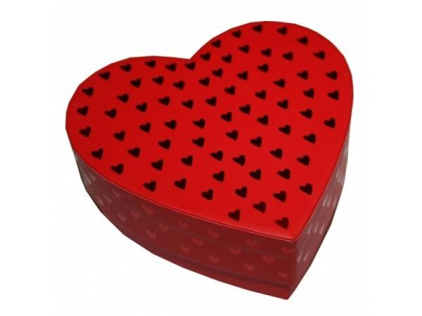 Geschenkschachtel Artebene Herz Grösse 1 rot 7x7x3 Herzform