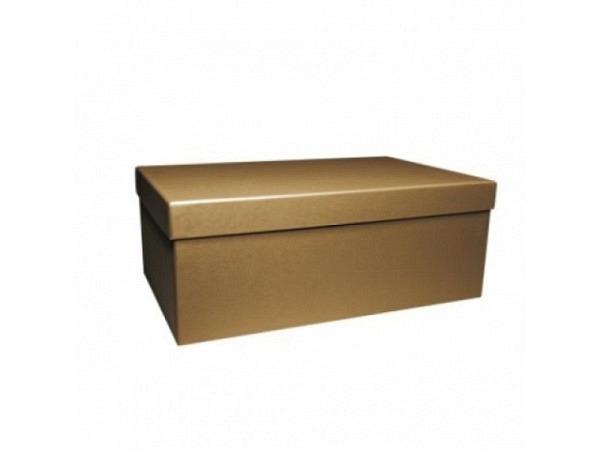 Geschenkschachtel Artoz Pure Box rechteckig L Green Line grocer kraft
