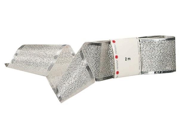 Geschenkband Präsent Prag silber, glänzendes Band 40mmx2m