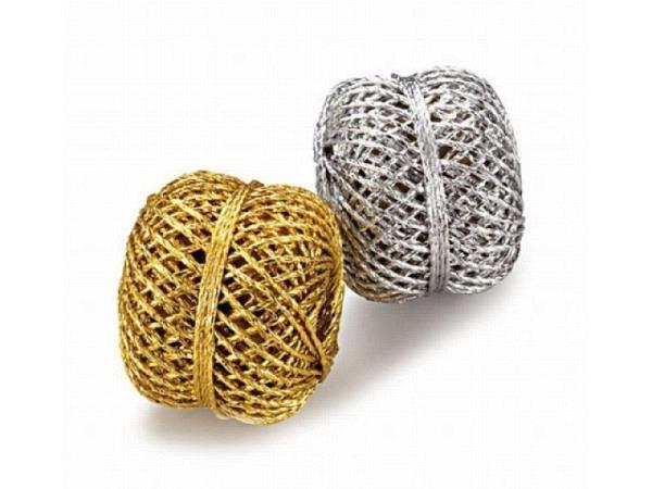 Geschenkband Präsent Wolga silber, dünne Kordel