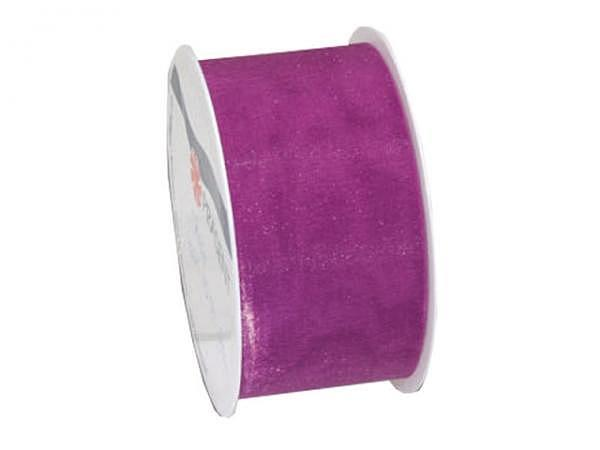 Geschenkband Präsent Sheer purpur, halbtransp Organzaband