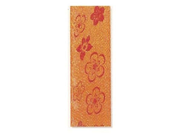 Geschenkband Blumen orange 25mmx3m