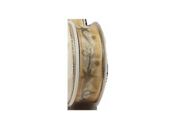 Geschenkband creme mit Sternschweif 25mmx3m