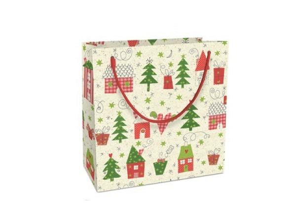 Flaschentasche Braun+Company Sparkling Tree 12x37x8cm