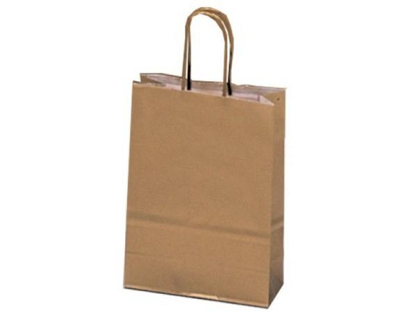 Geschenksack gold 14x21,5x8,5cm, aus Kraftpapier