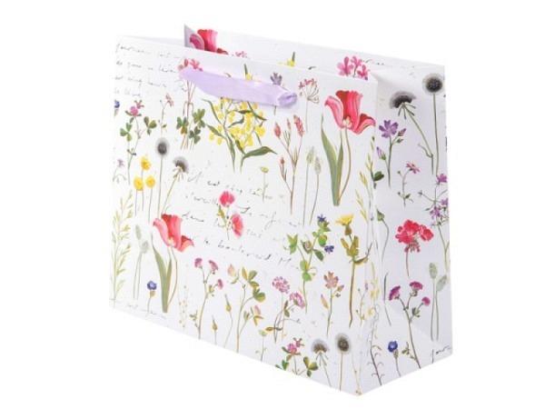 Geschenksack Goldbuch Turnowsky Wildflowers 27x13x33cm