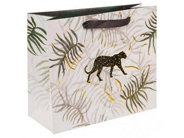 Geschenksack Goldbuch Turnowsky Jungle Vibes Panther 27x13x33cm