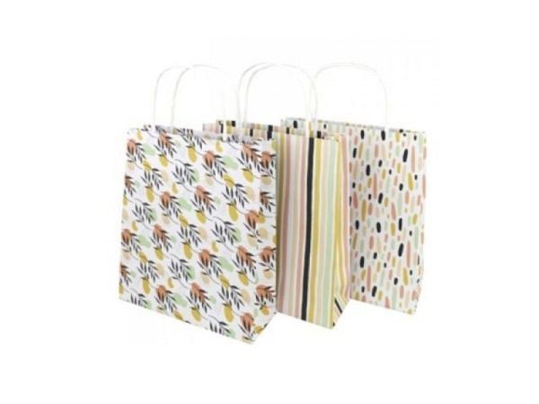 Flaschentasche Artoz Weihnachtsstern 38x15x10cm, chamois mit Sternmuster, seitlich bordeaux, mit wei