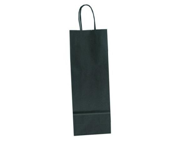 Flaschentasche Kraftpapier schwarz