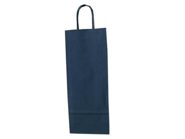 Flaschentasche Kraftpapier dunkelblau
