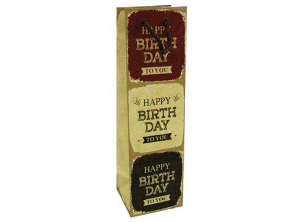 Flaschentasche Hartung Happy Birthday 38x11x10cm