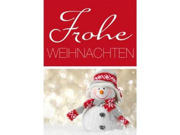 Geschenksanhänger Borer Schneemann Schal und Mütze 4er Set