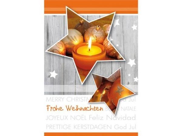 Geschenksanhänger Borer Weihnachtssterne orange 4er Set