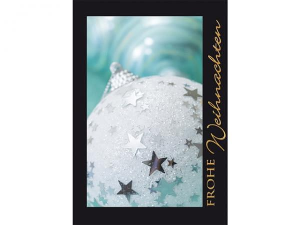 Geschenksanhänger Borer glizerne silberne Weihnachtskugel