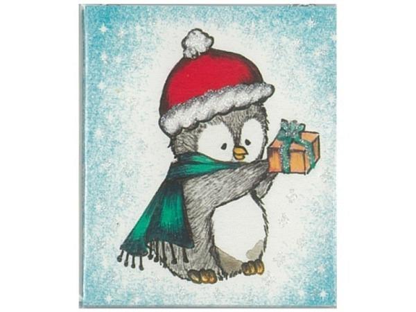 Geschenksanhänger ABC 4er Set Pinguine 5,5x6x5cm