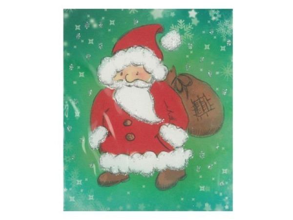 Geschenksanhänger ABC Weihnachtsmann/Engel 4er Set 5,5x6,5cm