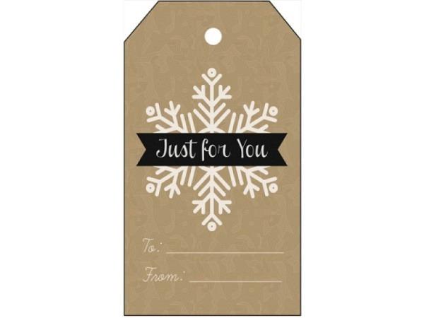 Geschenksanhänger Borer etikettenförmig Schneeflocke