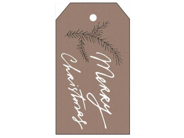 Geschenksanhänger Borer etikettenförmig Zweig 4er Set