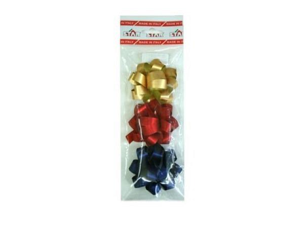 Geschenkmaschen Rüschenband créme mit Goldrand