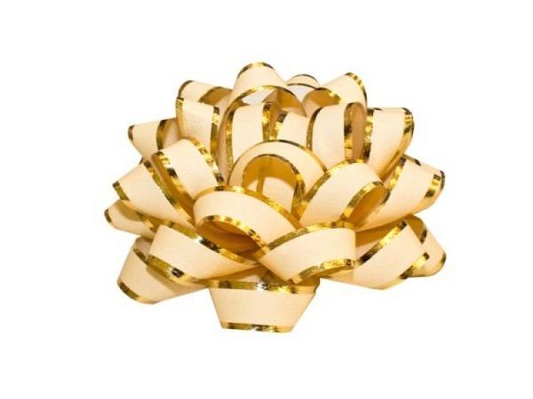 Geschenkmaschen Präsent Linea beige matt, glänzenden Rändern