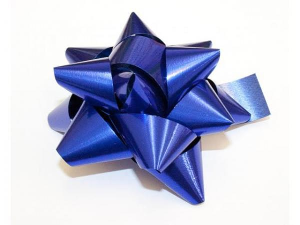 Geschenkmaschen Star Metal Unito blau