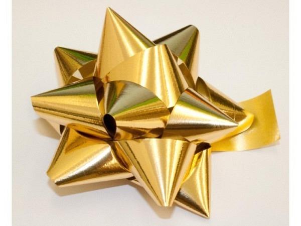 Geschenkmaschen Star Metalstar gold
