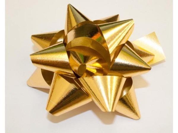 Geschenkmaschen Star Metal Unito gold