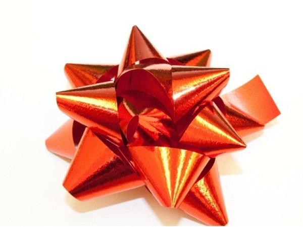 Geschenkmaschen Star Metal Unito rot
