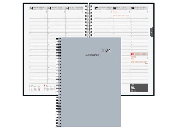 Agenda Zettler Futura 3 766 silbrig 7 Tage auf 2 Seiten A5