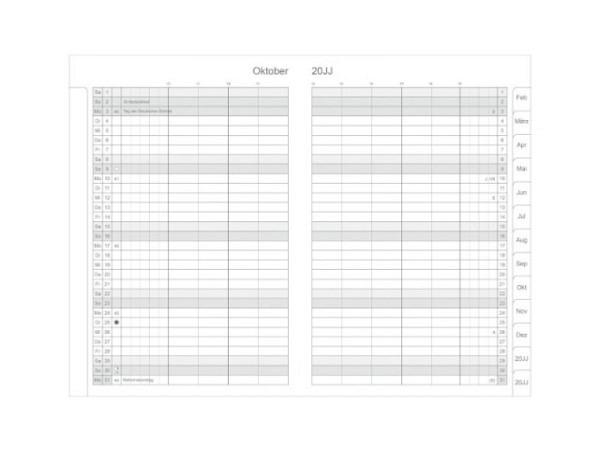 Agenda Biella Imago Around the World 7 Tage auf 2 Seiten