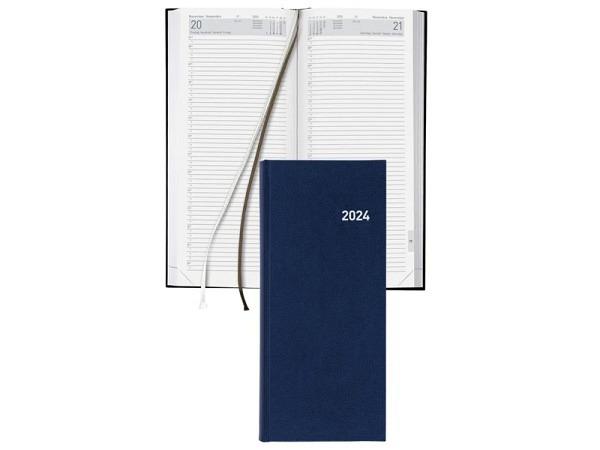 Agenda Biella Le Jour lang 13,5x32cm 1 Tag auf 1 Seite blau