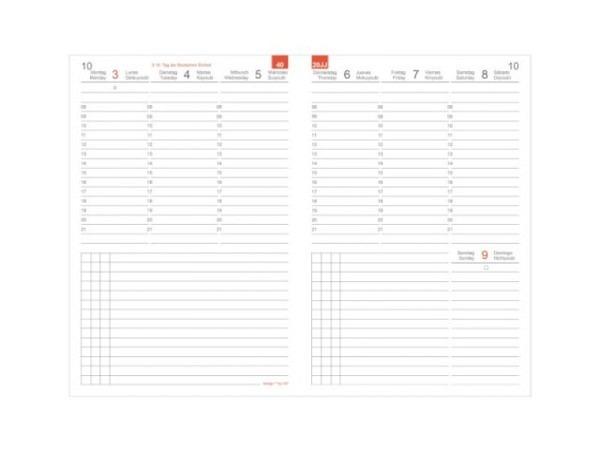 Agenda Biella Memento Ladytimer violett 7Tage auf 2Seiten