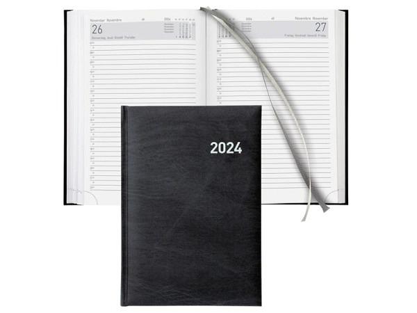 Agenda Biella Executive A5 1 Tag auf 1 Seite schwarz