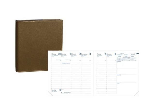 Agenda Quo Vadis Executif Club violett 7 Tage auf 2 Seiten