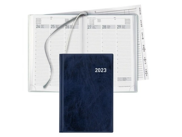 Agenda Biella Terminia blau, 7 Tage auf 2 Seiten