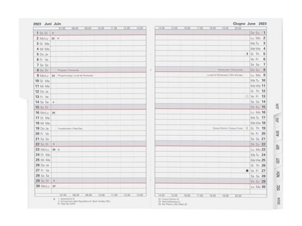Agenda Biella Planer Istanbul Einlage 1 Monat auf 2 Seiten
