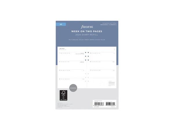Agenda Biella Memento Savanna dunkelblau 7 Tage auf 2 Seiten