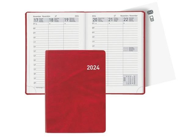 Agenda Biella Rex rot, 7 Tage auf 2 Seiten