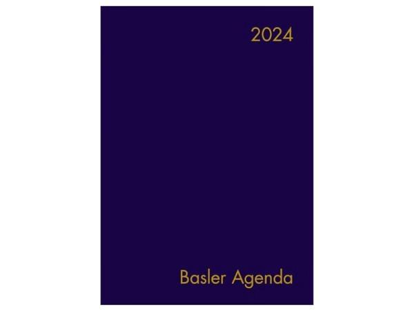 Agenda Basler Agenda Ledereinband blau, 13-Monats-Agenda
