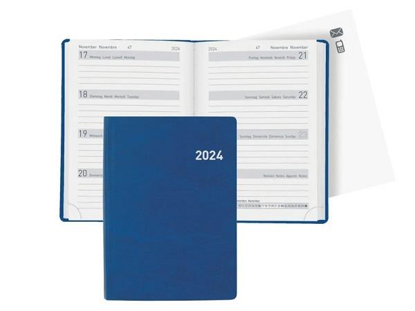 Agenda Biella Memento Kunstleder blau 7Tage auf 2Seiten