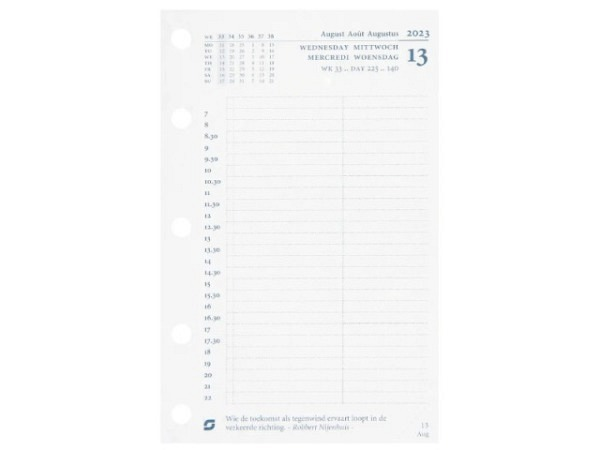 Einlage Succes Mini Jahresinhalt 1 Tag pro Seite Kalendarium