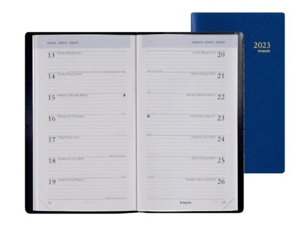 Agenda Brepols Interplan Woody Ellen farbig, 7 Tage auf 2 Seiten