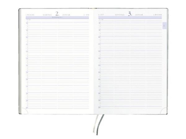 Agenda Zettler 886 Terminbuch A4 1 Tag auf 1 Seite anthrazit