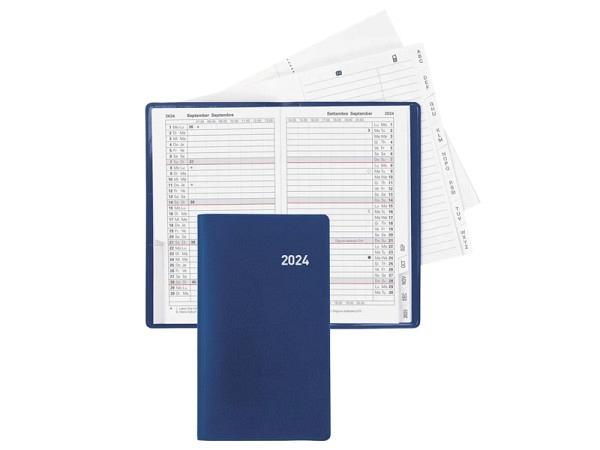 Agenda Biella Planer Paris blau, 1 Monat auf 2 Seiten