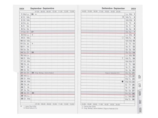 Agenda Biella Planer Paris Einlage 1 Monat auf 2 Seiten