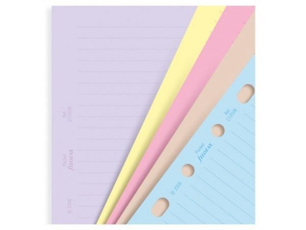 Einlage Filofax Pocket Notizpapier Pastell liniert farbig sortiert