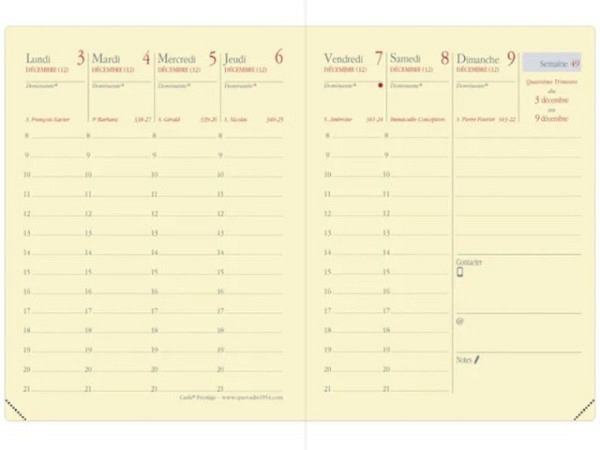 Agenda Quo Vadis Carla Prestige Einlage 7 Tage auf 2 Seiten